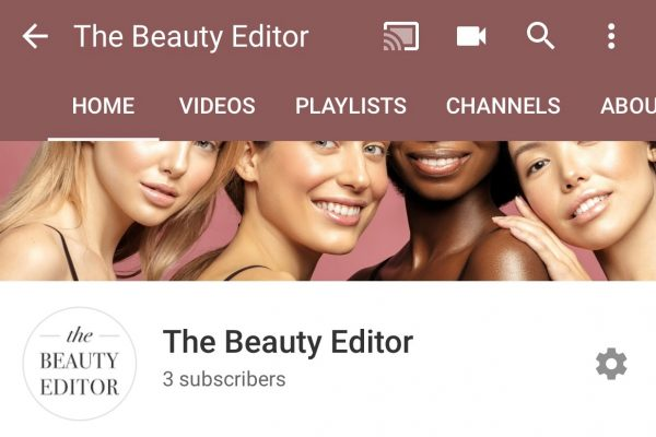 new youtube channel the beauty editor